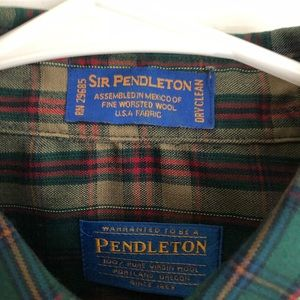 Men's Pendleton Plaid Dress Shirt